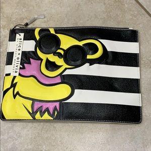 NWT Alice & Olivia Grateful Dead Clutch Pouch Bag